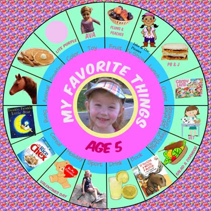 My Favorite things Age 5 Circular Design